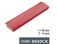 Багет дерев'яний червоний з крапками