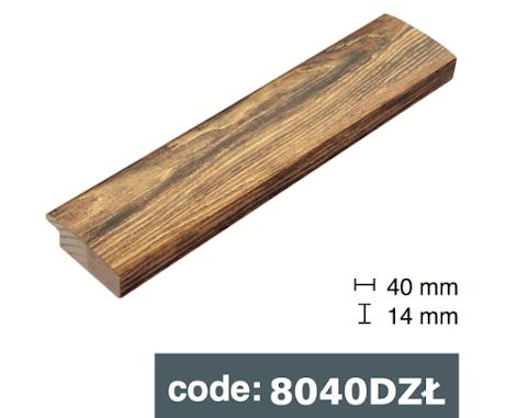 Багет дерев'яний бронза під дерево