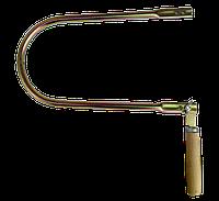 Лобзик ручний трубний цинк з дерев'яною ручкою, фото 1