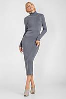 Элегантное длинное платье-футляр прилегающего силуэта платье гольф миди, фото 1