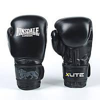 Перчатки боксерские кожаные на липучке LONSDALE X LITE VL-8336