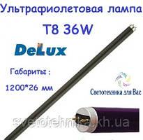 Люминесцентная лампа ультрафиолетовая Delux Т8 36W G13