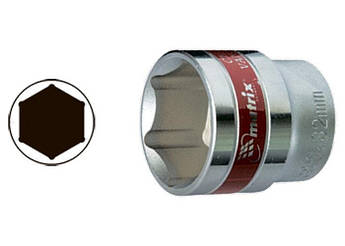 "Головка торцевая 10 мм, 6-гранная, CRV, под квадрат 1/2"", хромированная MTX MASTER (131109)"