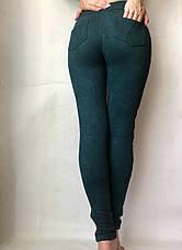 Замшевые лосины (42-48) № 76 зеленый, фото 2