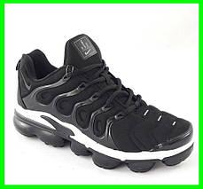Мужские Кроссовки Nike Air VaporMax Plus Чёрно-Белые Найк (размеры: 41,43,44,45,46) Видео Обзор, фото 2