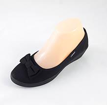 Женские Мокасины Чёрные Балетки Туфли на Танкетке (размеры: 36,37,38,39), фото 2