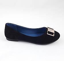 Женские Балетки Чёрные Мокасины Туфли (размеры: 38), фото 3