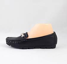 Женские Мокасины Кожаные Чёрны Слипоны (размеры: 36,39,41), фото 2