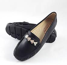 Женские Мокасины Кожаные Чёрны Слипоны (размеры: 36,39,41), фото 3