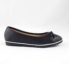 Женские Балетки Чёрные Мокасины Туфли (размеры: 38,39,41), фото 2