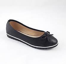 Женские Балетки Чёрные Мокасины Туфли (размеры: 38,39,41), фото 3