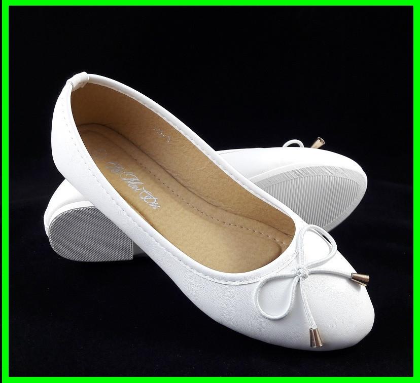 Женские Балетки Белые Мокасины Туфли (размеры: 38)
