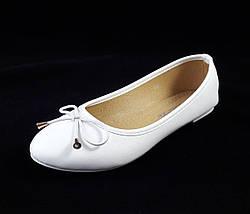 Женские Балетки Белые Мокасины Туфли (размеры: 38), фото 2