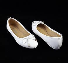 Женские Балетки Белые Мокасины Туфли (размеры: 38), фото 3