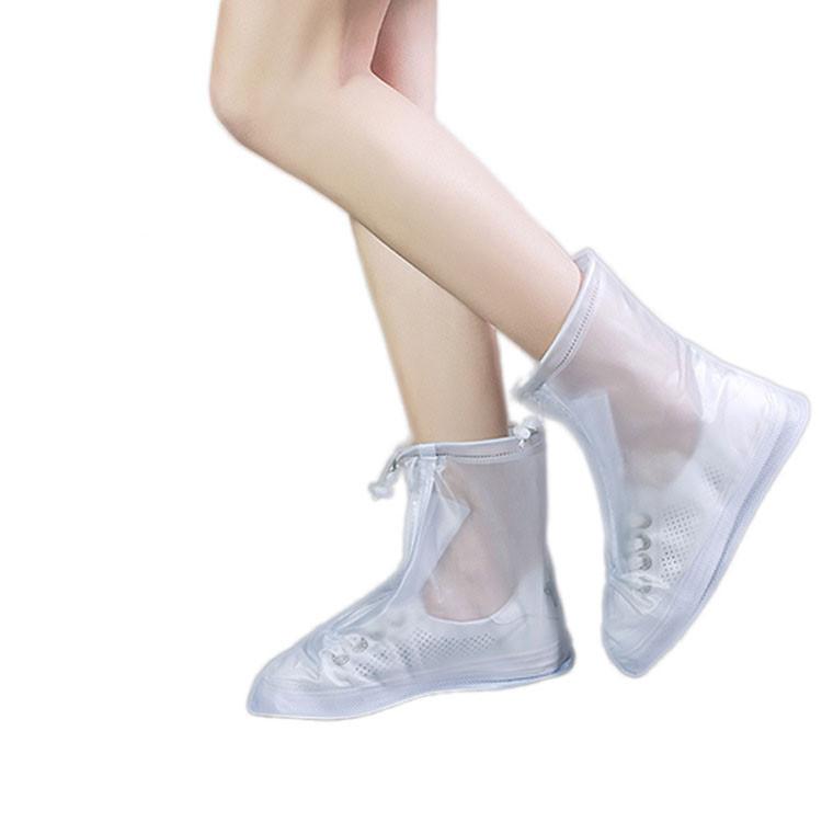 Багаторазові бахіли-чохли SUNROZ Waterproof Shoe Covers на взуття від дощу та бруду M Білий (SUN5345)