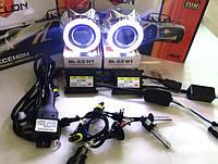 Би-ксеноновые линзы Cyclon с ангельскими глазками G5 и ксенон AC установочный комплект с проводкой!