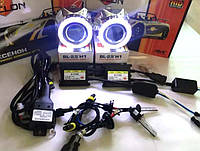 Би-ксеноновые линзы с ангельскими глазками G5 Ultra Plus и ксенон Cyclon установочный комплект с проводкой!