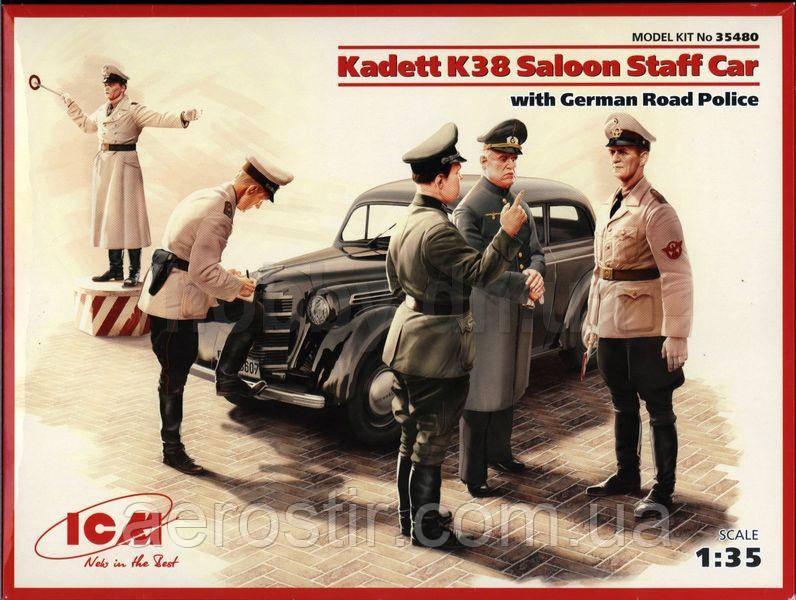 Kadett K38 седан, с германской дорожной полицией 1/35 ICM 35480