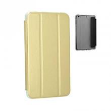 Чехол книжка кожаный Goospery Mercury Smart для Samsung Tab A 8.0 T355 золотистый