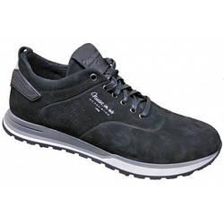Спортивные мужские туфли кожа   40-45 чёрный  нубук