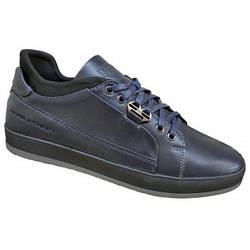 Туфли мужские из натуральной кожи осенние  40-45 синий тайфун