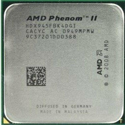Процессор, AMD Phenom II X4 945, 3.0GHz/6MB, HDX945FBK4DGI, socket AM3