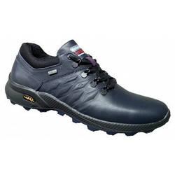 Спортивные туфли мужские кожаные 39-46 синий тайфун