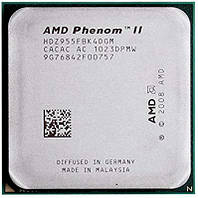 Процессор, AMD Phenom II X4 955, 3.2GHz/6MB, HDZ955FBK4DGI, socket AM3