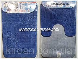 SHAHINTEX ЭКО Набор ковриков для ванной 45*75 + 45*43 см (синий)
