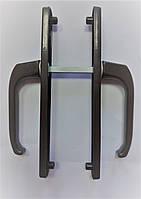 """Нажимной гарнитур для металлопластиковых дверей """"PGU"""" 25-92 (195мм) без пружины коричневый для ПВХ дверей"""