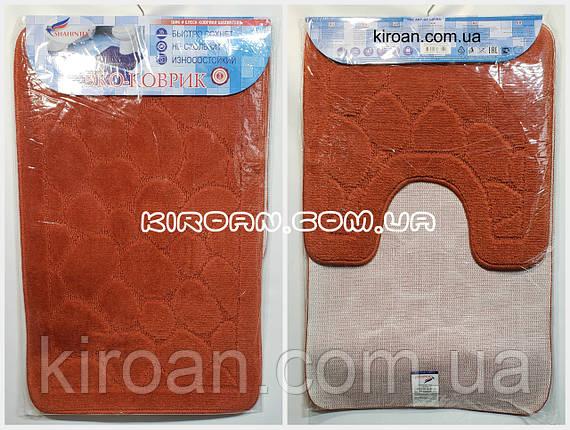 SHAHINTEX ЭКО Набор ковриков для ванной 45*75 + 45*43 см (терракотовый), фото 2