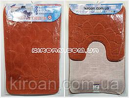 SHAHINTEX ЭКО Набор ковриков для ванной 45*75 + 45*43 см (терракотовый)