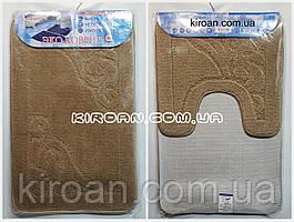 SHAHINTEX ЭКО Набор ковриков для ванной 45*75 + 45*43 см (песочный)