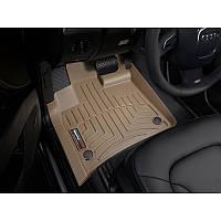 Коврики резиновые Audi Q7 2006-2014 передние бежевые   Автоковрики WeatherTech 451511