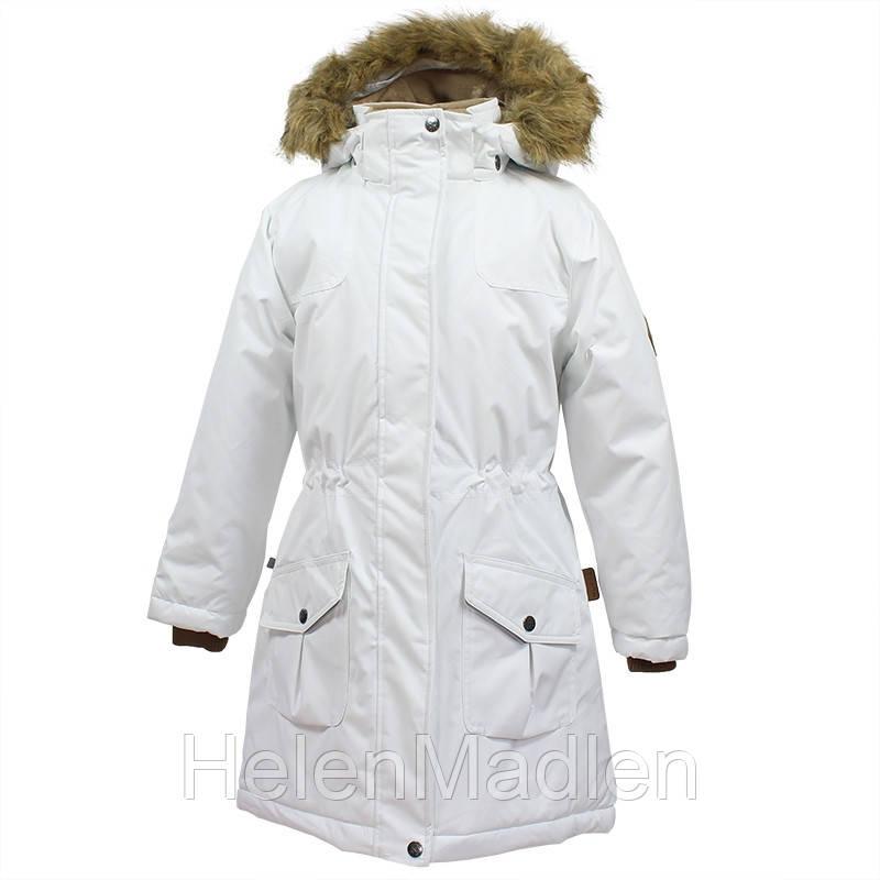 Парка куртка зимняя для девочки HUPPA MONA белая 70020