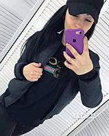 Куртка женская демисезонная чёрная, фото 1