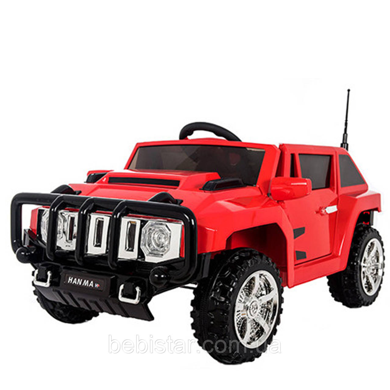 Детский джип электромобиль красный для 3-8 лет с пультом аккумулятор 12V7AH мотор 2*20W с МР3