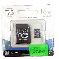 Карта памяти T&G microSDHC 16GB class 10 (с адаптером)