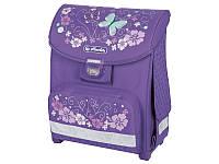 Ранец Herlitz Smart Hawaii Бабочки фиолетовый школьный рюкзак для первоклассницы ортопедическая спинка