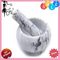 Мраморная кухонная ступка с пестиком BN-11   ступка - измельчитель из мрамора для специй