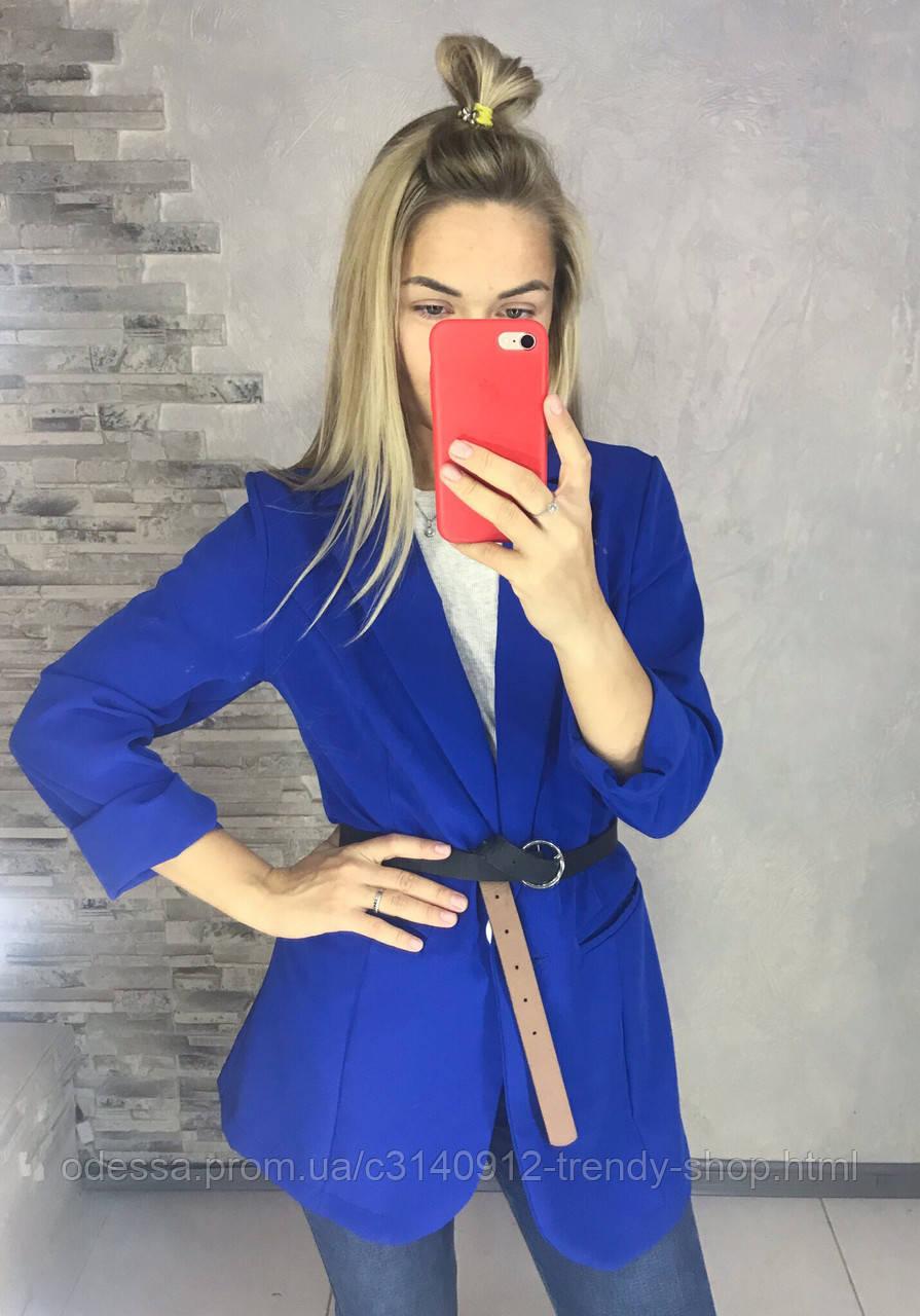 Пиджак женский молоко, голубой, электрик, хаки, красный