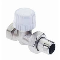 """Прямий термостатичний вентиль з преднастройкой для залізної труби, розмір 3/4"""", фото 1"""