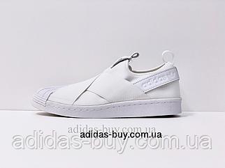 Кроссовки кеды женские adidas originals Superstar Slip On W S81338 оригинал цвет: белый