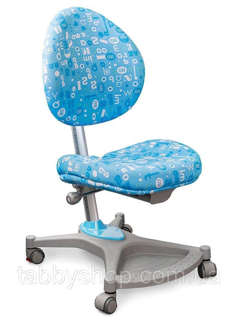 Детское ортопедическое кресло Mealux Neapol ABK (обивка голубая с буквами)