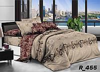 Семейное постельное белье 3D Ranforce бежево-коричневое