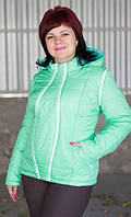 Куртка для беременных 2 в 1 со съемными рукавами (мята)