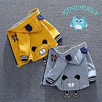 Детская толстовка ,кофта, куртка Мишка ,цвет жёлтый(рост 86-90), фото 1