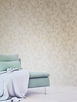 Виниловые обои на флизелине  Sirpi  Alta Gamma Life 23703 абстракция листья папоротника зеленые золото 3д