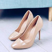 Женские лаковые туфли на высоком каблуке, фото 1