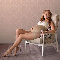 Колготы для беременных, мод. 540, Мамин Дом (бежевый, 40 Den)